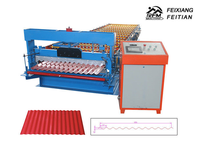 FX850 Color Steel Trapezoidal Corrugated Sheet Roll Forming Machine 380V 50HZ 3P