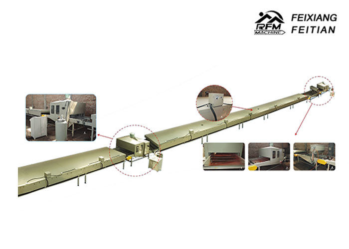 FX-1250 Sandwich Panel Roll Forming Machine Stone Coated Sand Spray Moulding Machine Line