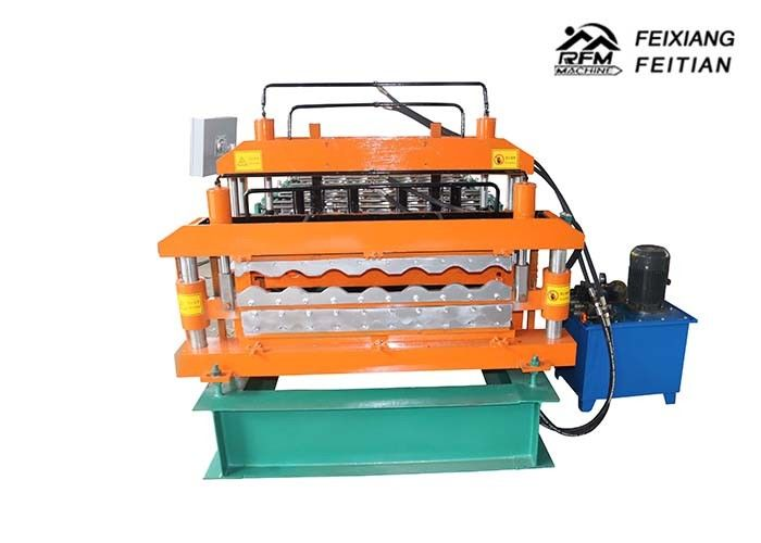 Color Steel Roof Tile Making Machine , Double Layer Roll Forming Machine