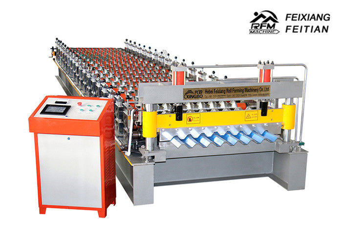 Industrial Wall Panel Roll Forming Machine , Pillar Design Roof Tile Roll Forming Machine