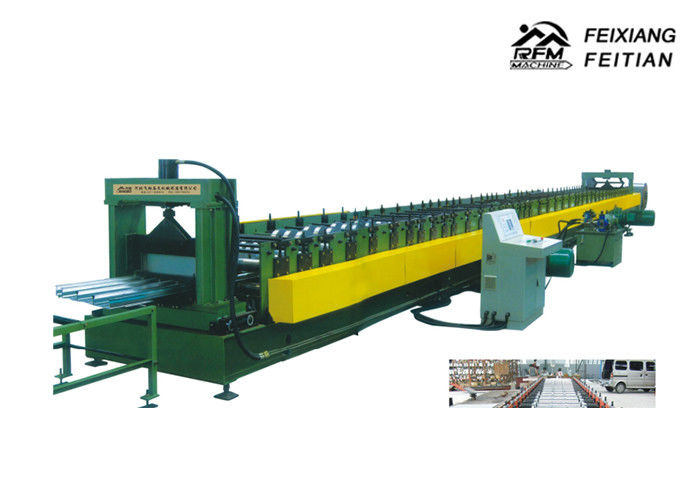Galvanized Floor Deck Roll Forming Machine With 8 - 10/Min Working Speed